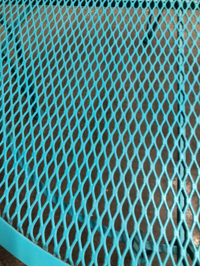 John Salterini Newly Refinished in Lagoon Blue Wrought Iron Patio Cocktail Table For Sale 3