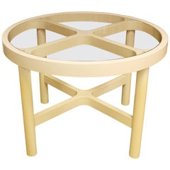Mid-Century Modern Kartell Plastic and Glass Dinette Dining Table, 1960s, Italy