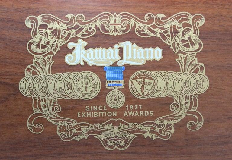 Mid-Century Modern Kawai Upright Piano For Sale 7