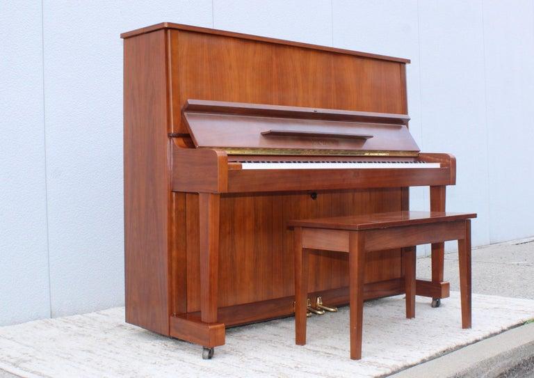 Japanese Mid-Century Modern Kawai Upright Piano For Sale