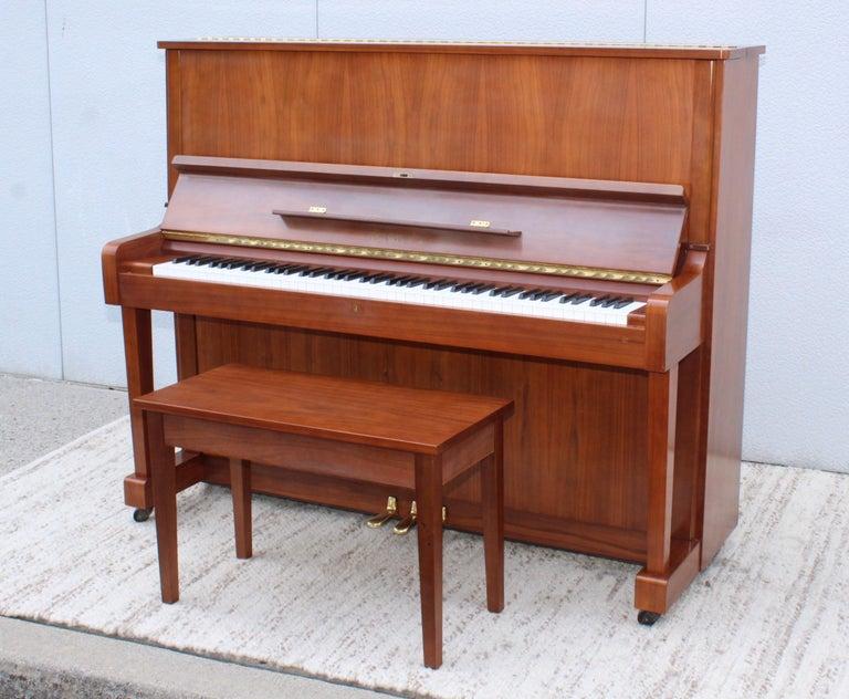 Mid-20th Century Mid-Century Modern Kawai Upright Piano For Sale