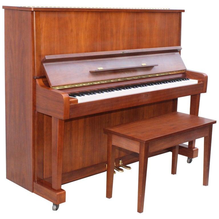 Mid-Century Modern Kawai Upright Piano For Sale