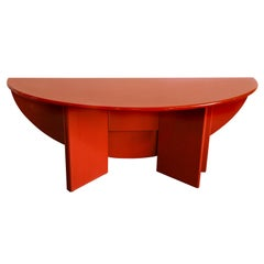 "Mid-Century Modern Kazuhide Takahama Red Lacquered ""Antella"" Folding Sides Table"