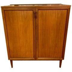 Mid-Century Modern Kip Stewart Walnut Chest Cabinet Dresser Directional