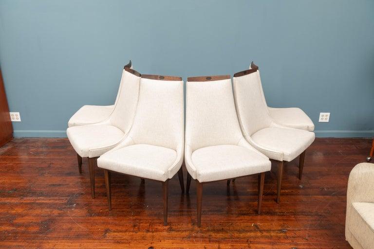 American Mid-Century Modern Kipp Stewart Dining Chairs For Sale