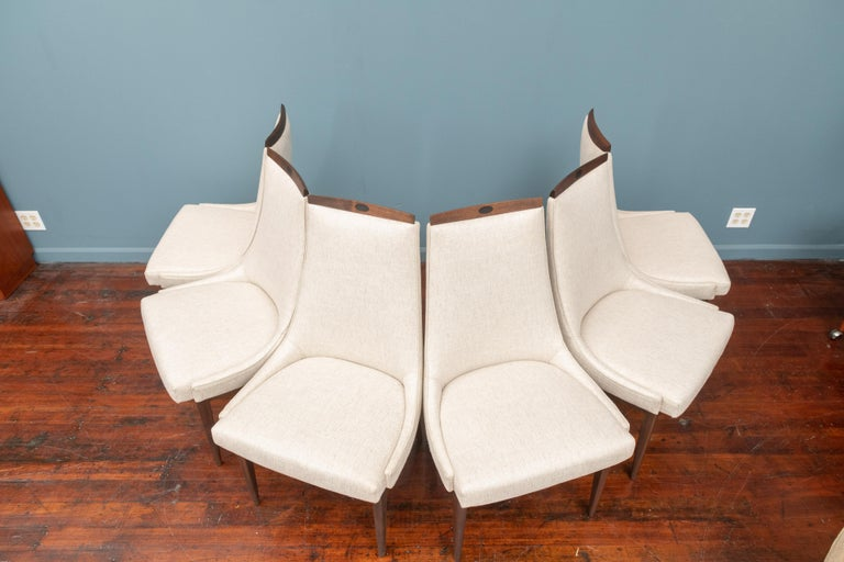 Mid-Century Modern Kipp Stewart Dining Chairs In Excellent Condition For Sale In San Francisco, CA