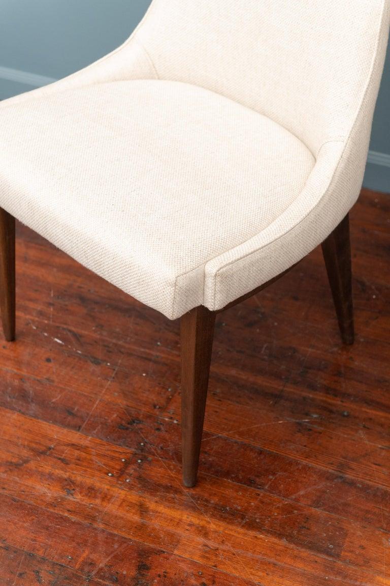 Walnut Mid-Century Modern Kipp Stewart Dining Chairs For Sale