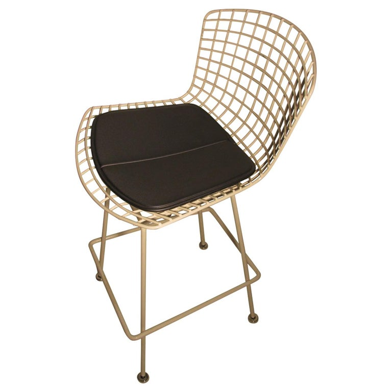 Mid-Century Modern Knoll Bertoia Wire Bar Counter Stool For Sale