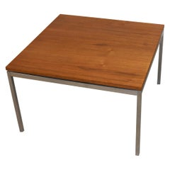Mid-Century Modern Knoll Furniture Teak and Chrome Square Table