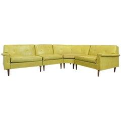 Mid-Century Modern Kroehler Smartset Design Modular 4-Piece Sectional Sofa