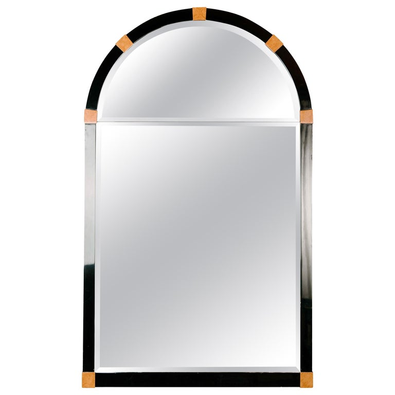Mid-Century Modern Lacquered Arch Mirror For Sale