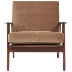 Mid-Century Modern Lacquered Lounge Armchair
