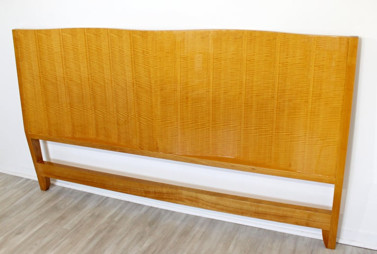 Mid-Century Modern Lacquered Maple Wavy Curved King Size Headboard, 1970s For Sale 6