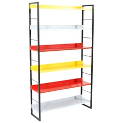 Mid-Century Modern Lacquered Metal Bookcase by Adriaan Dekker for Tomado, 1958
