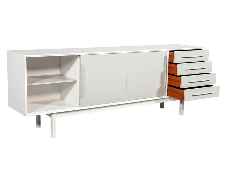American Mid-Century Modern Lacquered Sideboard Media Cabinet For Sale