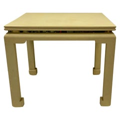 Mid-Century Modern Lacquered Skin Extension Game Table Karl Springer Attributed