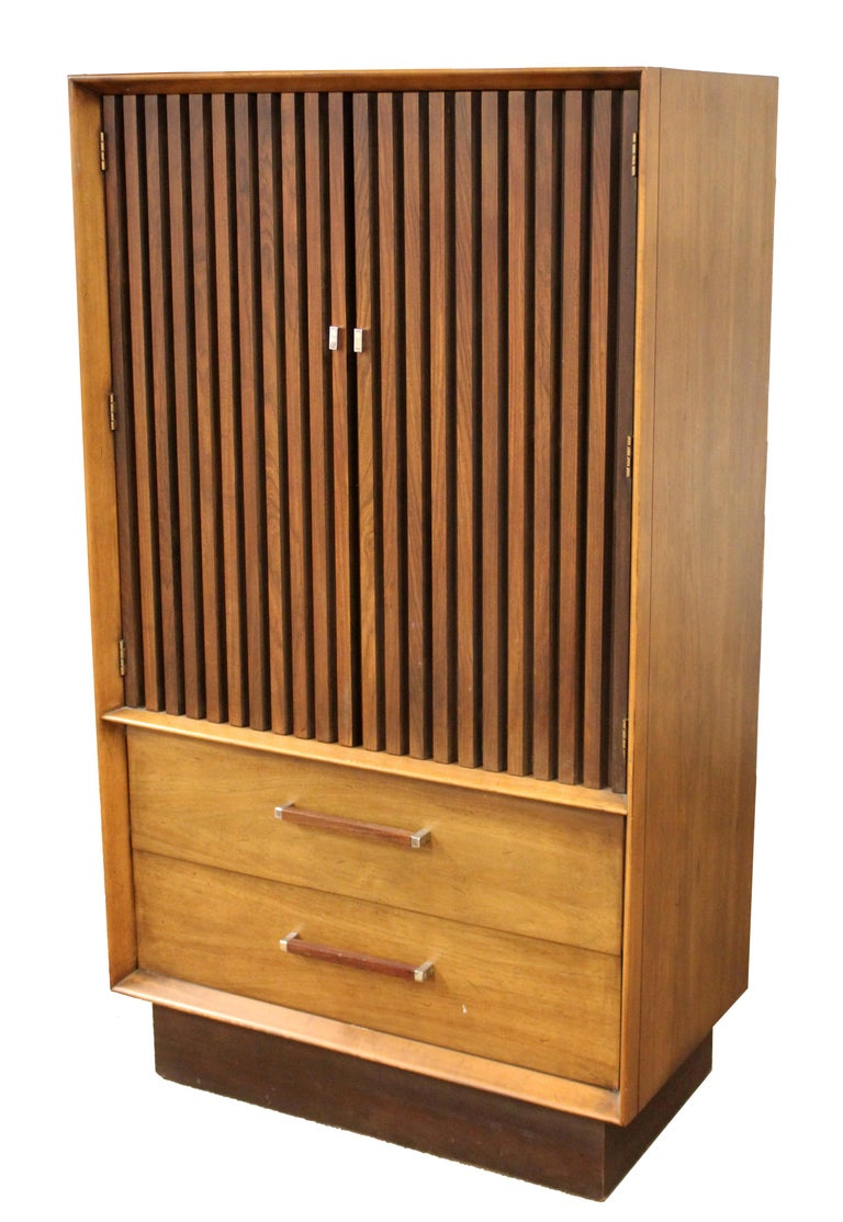 Mid Century Modern Lane 5 Pc Rosewood Bedroom Set Dresser Headboard Cabinet 70s For Sale 3