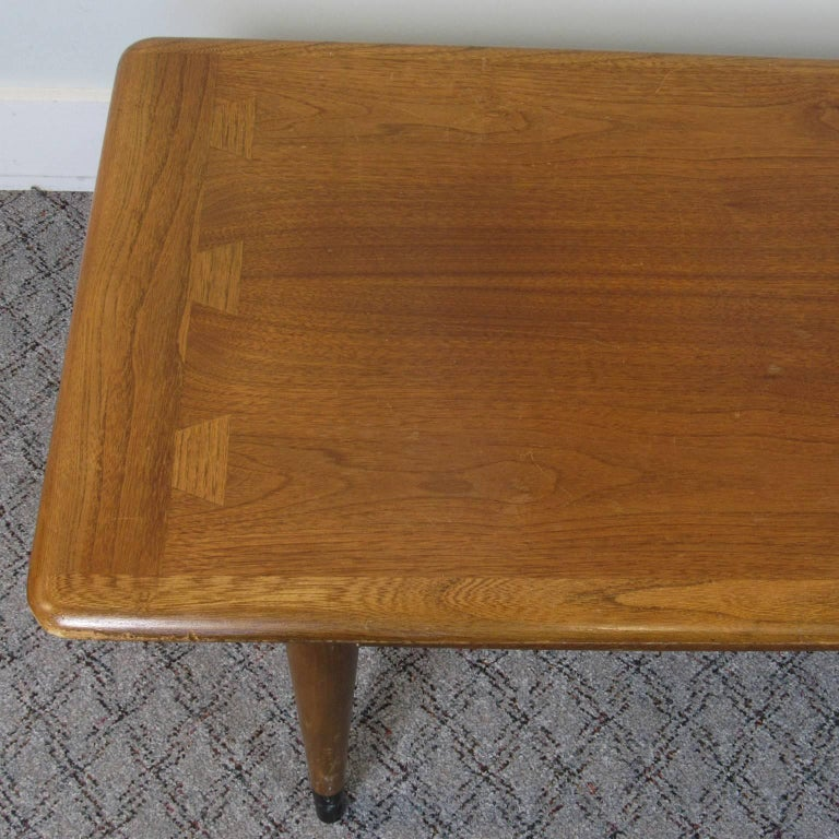 Mid Century Modern Lane Acclaim Coffee Table Stamped On Bottom With Serial Number