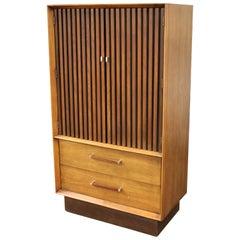 Mid-Century Modern Lane Altavista Pecan Rosewood Highboy Dresser Chest, 1970s