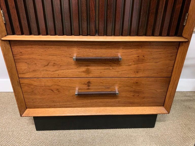 American Mid-Century Modern Lane Furniture Wardrobe Armoire Cabinet Dresser For Sale