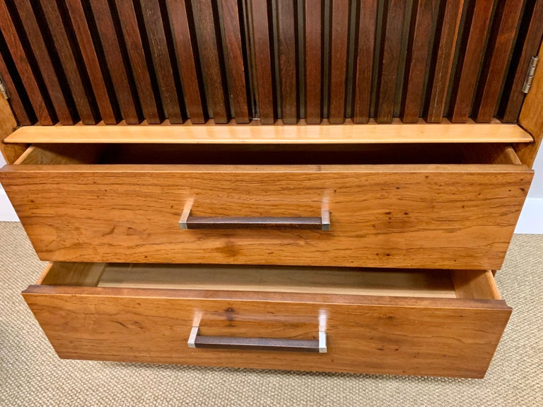 Teak Mid-Century Modern Lane Furniture Wardrobe Armoire Cabinet Dresser For Sale