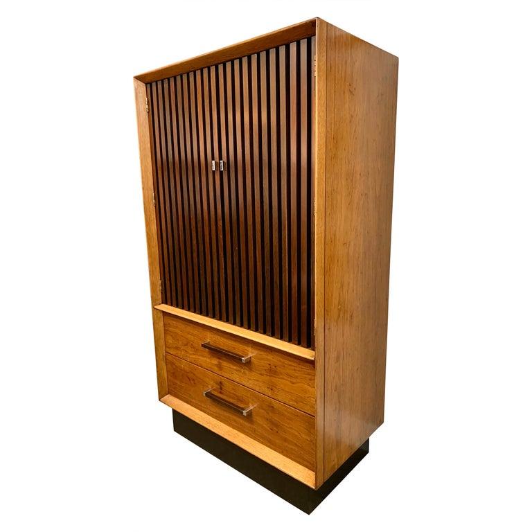 Mid-Century Modern Lane Furniture Wardrobe Armoire Cabinet Dresser For Sale