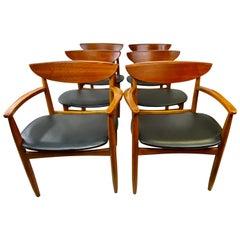 Mid-Century Modern Lane Perception Dining Chairs, Set of 6