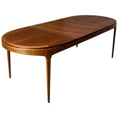 """Mid-Century Modern Lane """"Rhythm"""" Dining Table with Table Leaves"""