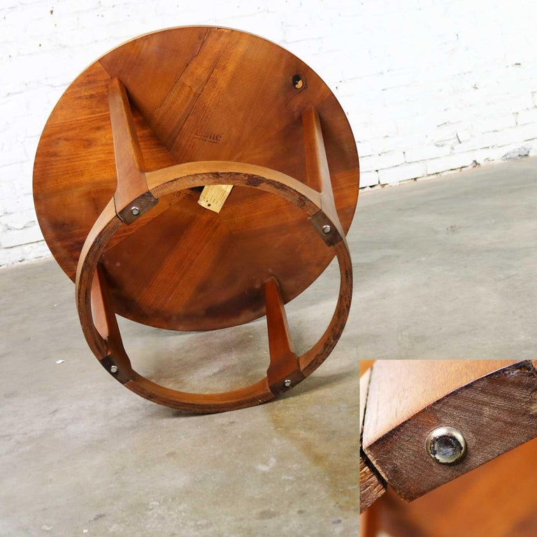Mid Century Modern Lane Round Drum End Table 997 22 From