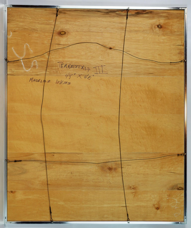 Mid-Century Modern Large Abstract Painting by Madeline Weiss, Palm Beach Florida For Sale 4