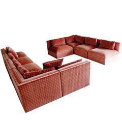 Mid-Century Modern Large Baughman Directional Nine-Piece Sectional Sofa, 1970s