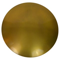 Mid-Century Modern Large Brass Flush Mount Ceiling / Wall Light, Florian Schulz