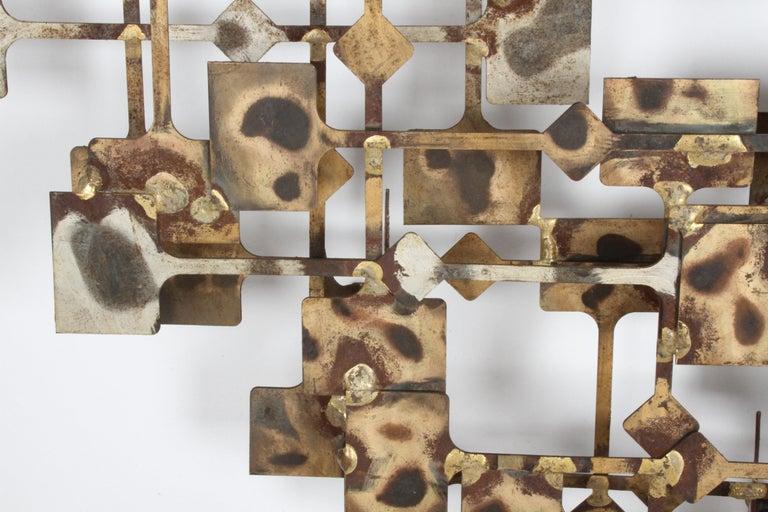 Mid-Century Modern Large Brutalist Nail Wall Sculpture by Artist Marc Weinstein For Sale 1