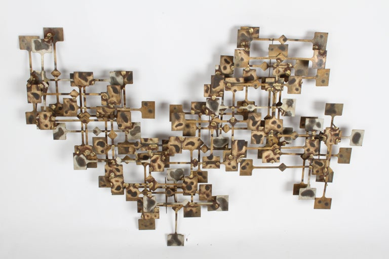 Mid-Century Modern Large Brutalist Nail Wall Sculpture by Artist Marc Weinstein For Sale 2
