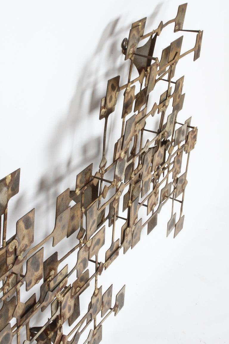 Mid-Century Modern Large Brutalist Nail Wall Sculpture by Artist Marc Weinstein For Sale 3