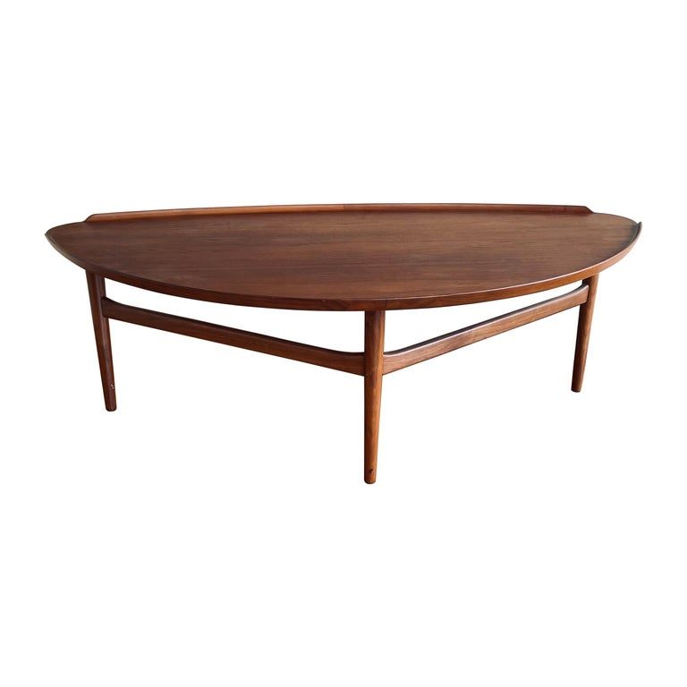 Mid-Century Modern Large Coffee Table By Finn Jhul for Baker For Sale