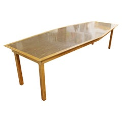 Mid-Century Modern Large Custom Made Diamond Shape Dining Conference Table 1960s
