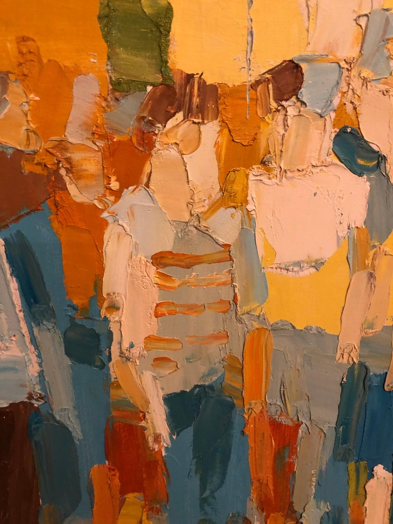 Mid-Century Modern Large Impasto Painting of Golfers by Italo Botti For Sale 7