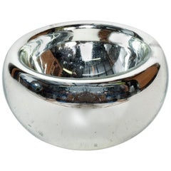 Mid Century Modern Large Mercury Bowl in Silver, 1960s Mexico
