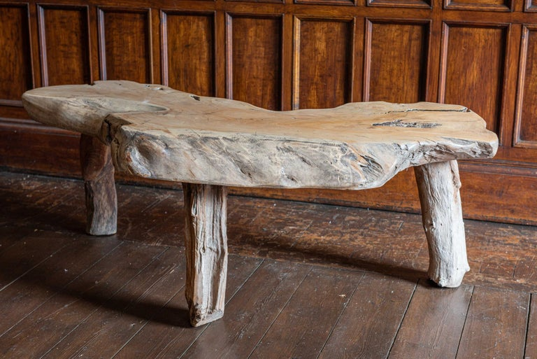 20th Century Mid-Century Modern Large Primitive Teak Root Coffee Table For Sale