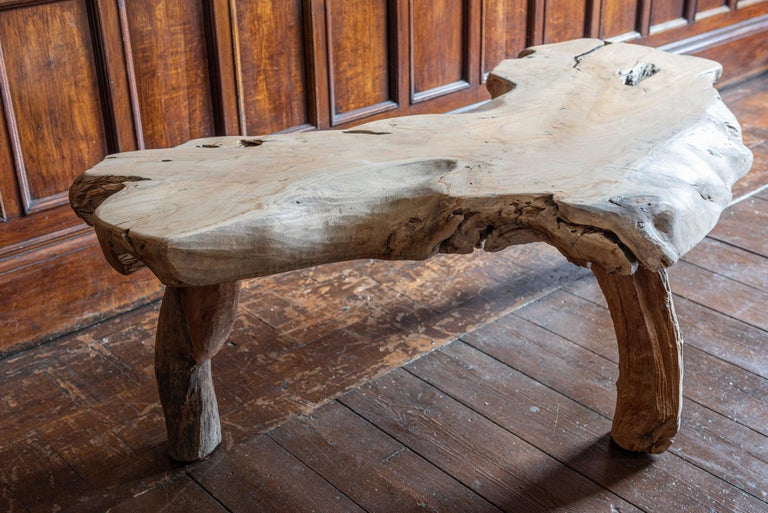 Mid-Century Modern Large Primitive Teak Root Coffee Table For Sale 4