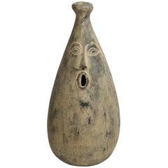 Mid-Century Modern Large Scale Organic Stylized Figurative Ceramic Vase