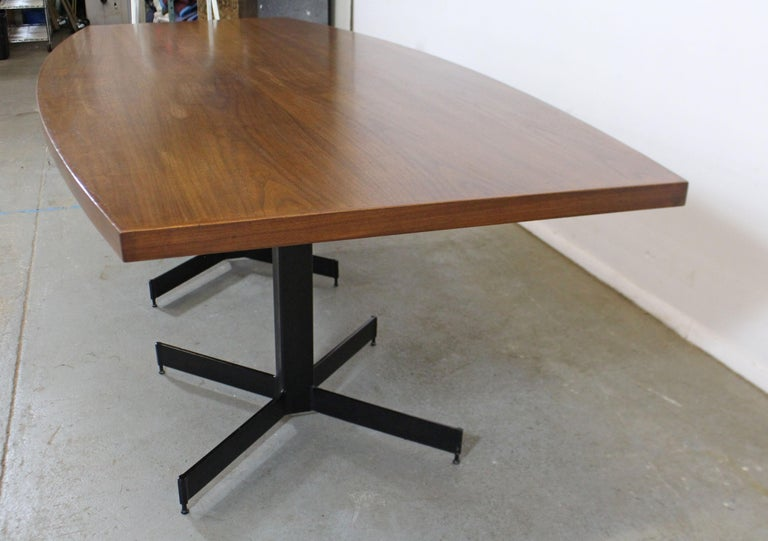 20th Century Mid-Century Modern Large Walnut Surfboard Conference/Dining Table For Sale