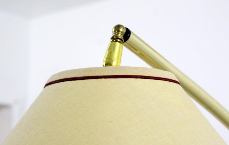 Mid-Century Modern Large Wood Adjustable Arc Floor Lamp ...