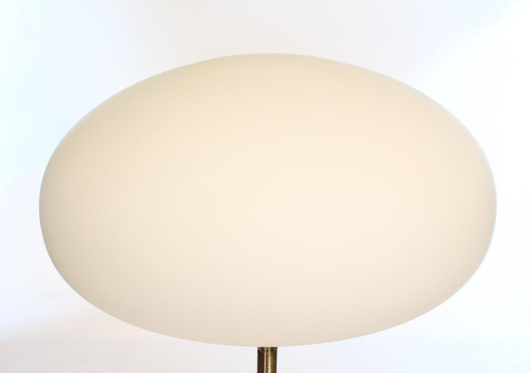 Frosted Mid-Century Modern Laurel Floor Lamp For Sale