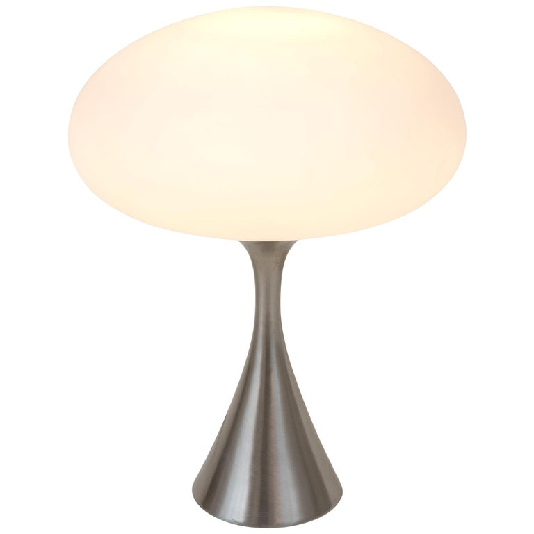 Mid-Century Modern Laurel Mushroom Shade Table Lamp by Bill Curry, 1960s For Sale