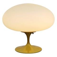 Mid-Century Modern Laurel Yellow Metal Mushroom Glass Table Lamp, 1960s