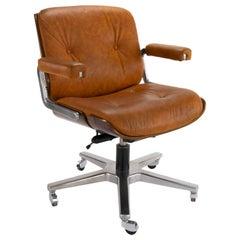 Mid-Century Modern Leather Armchair by Martin Stoll for Giroflex, Switzerland