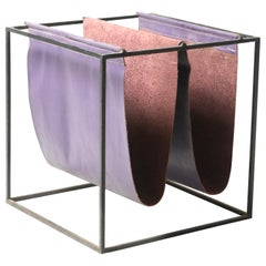 Mid-Century Modern Leather Magazine Rack by Jorge Zalszupin, Brazil, 1960s