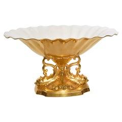 Mid-Century Modern Lenox 24-Karat Gold Aquarius Centerpiece Bowl